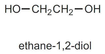 Image result for ethane 1,2 diol